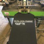 Camisetas Gailurra MT, proceso de serigrafiía